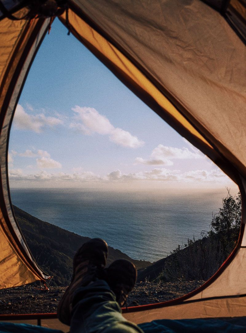 view of the pacific ocean from the tent Big Sur California. & view of the pacific ocean from the tent Big Sur California ...