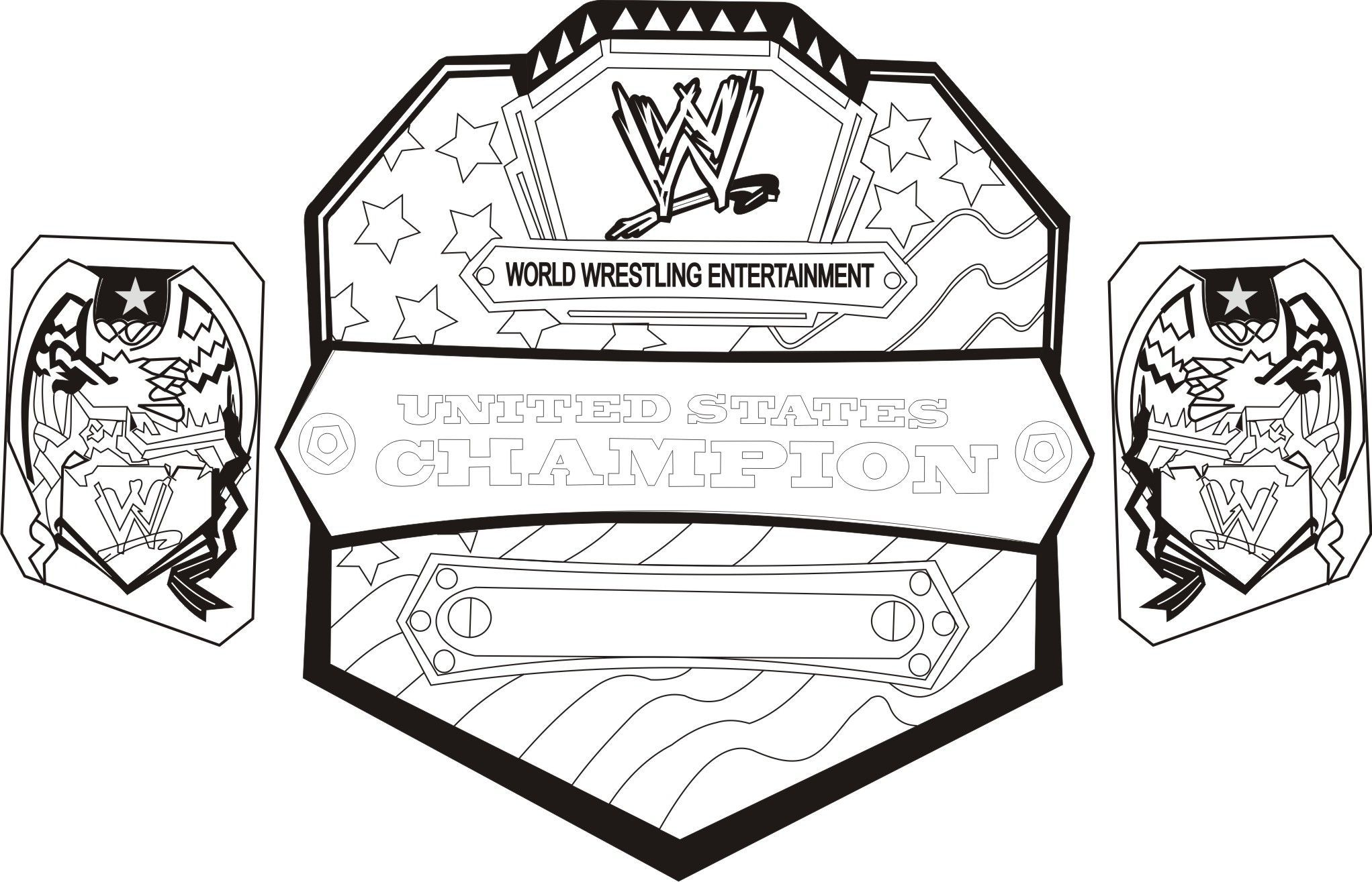 Awesome Wwe Coloring Pages Free 62 For Child With Wwe Coloring Pages Free Wwe Coloring Pages Wwe Belts Wwe Birthday Party