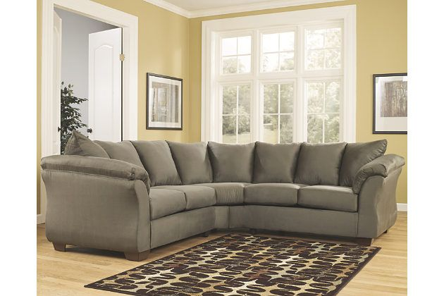 Prime Darcy 2 Piece Sectional By Ashley Homestore Green Gmtry Best Dining Table And Chair Ideas Images Gmtryco