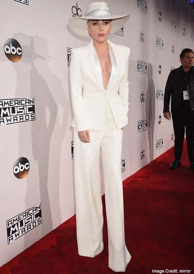 2a2dfc5bf1ef Lady Gaga  The artist who made electro-pop famous and well-loved the whole  world over wore a tailored