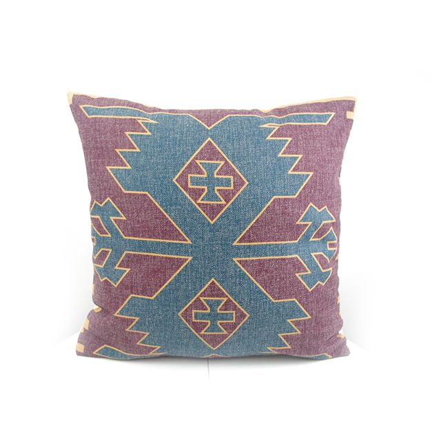 How To Wash Throw Pillows Without Removable Cover Dark Blue Digital Print Antique Cotton Linen Kilim Pattern Pattern