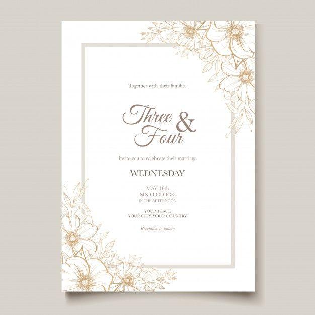 51 line art wedding card with beautiful