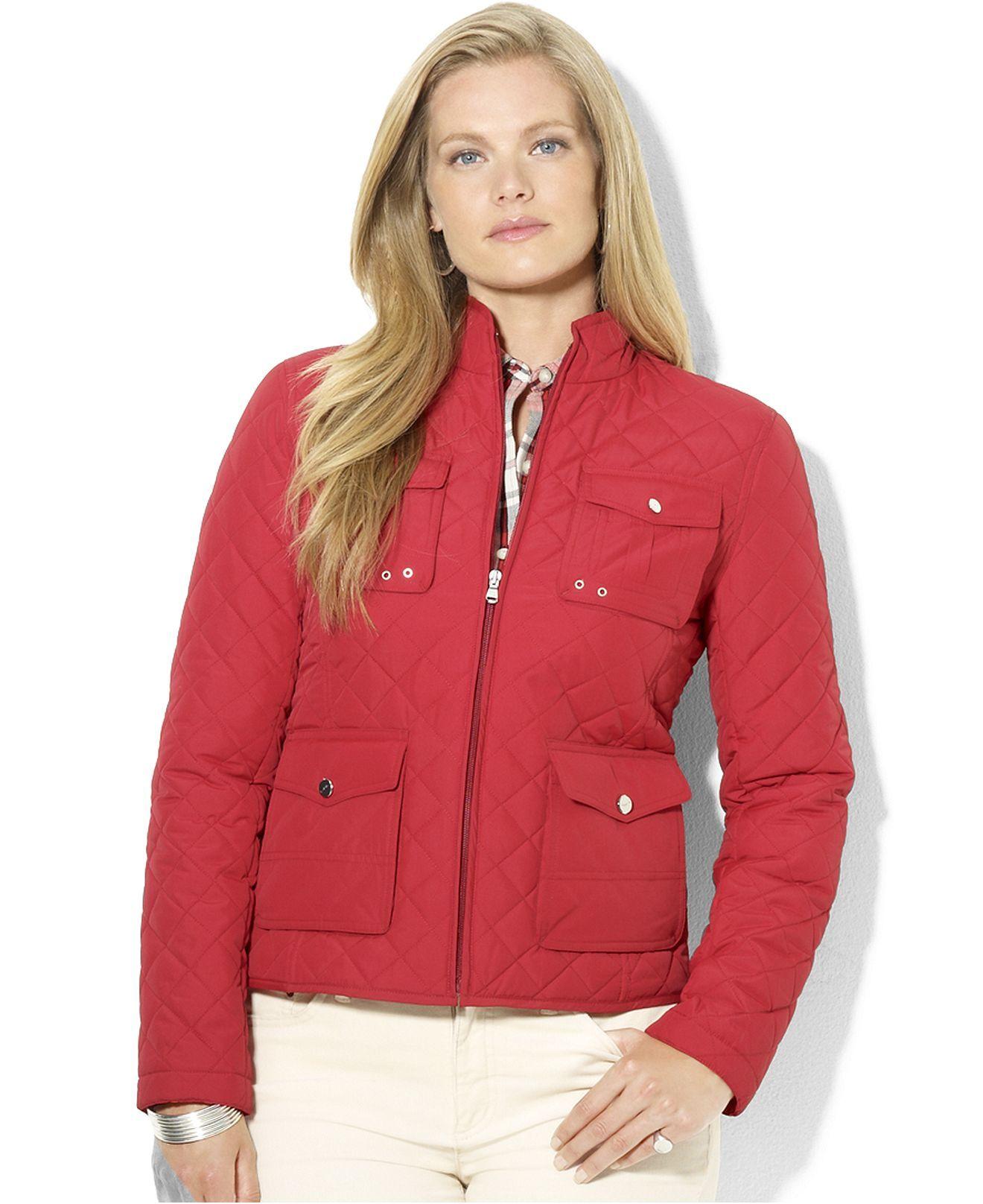 Lauren Ralph Lauren Plus Size Jacket Quilted Mock Neck Plus Size Jackets Blazers Plus Sizes Macy S [ 1616 x 1320 Pixel ]