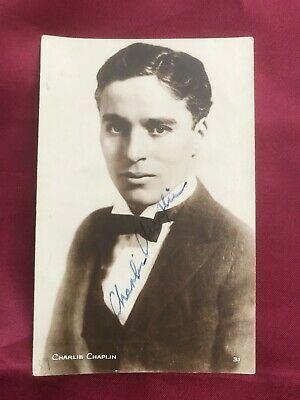 Autograph CHARLIE CHAPLIN (†1977)-Silent Film Actor UK-handsigned postcard | eBay