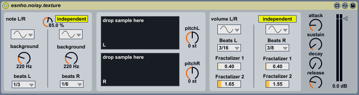 www.maxforlive.com - Esnho Noisy Texture. Ableton Live Instrument