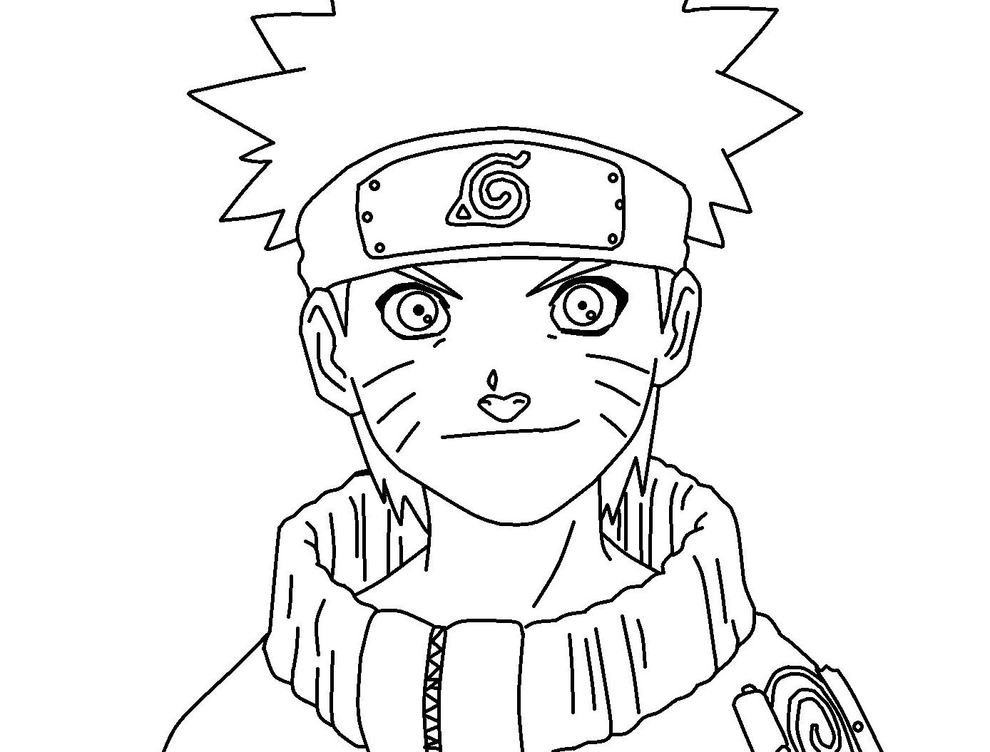 Naruto Coloring Page With Shadow Naruto Coloring Page With