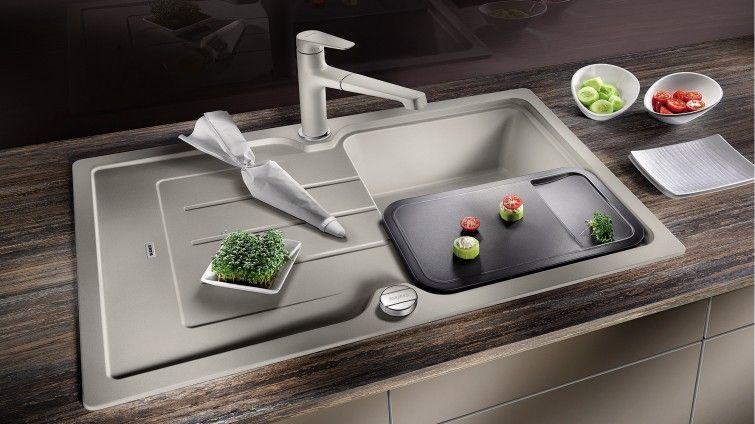 BLANCO CLASSIC Neo 45 S Silgranit Kitchen Sink U0026 Matching Tap