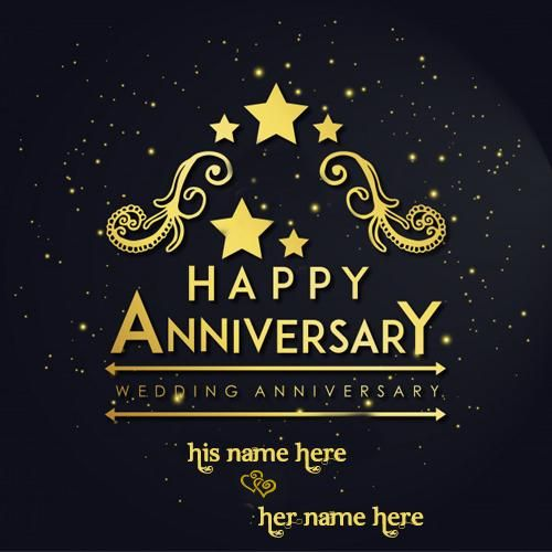 Hy Wedding Anniversary Card With Name Images Free Credit Wishes Online