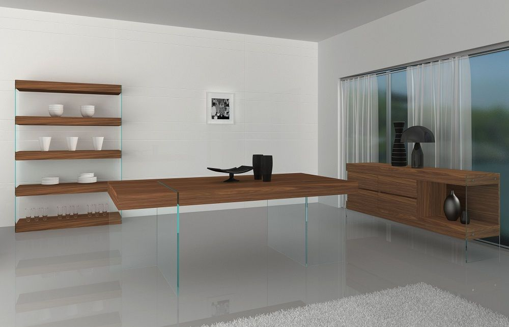 Elm Modern Dining Table By J M Furniture Walnut Dining Table