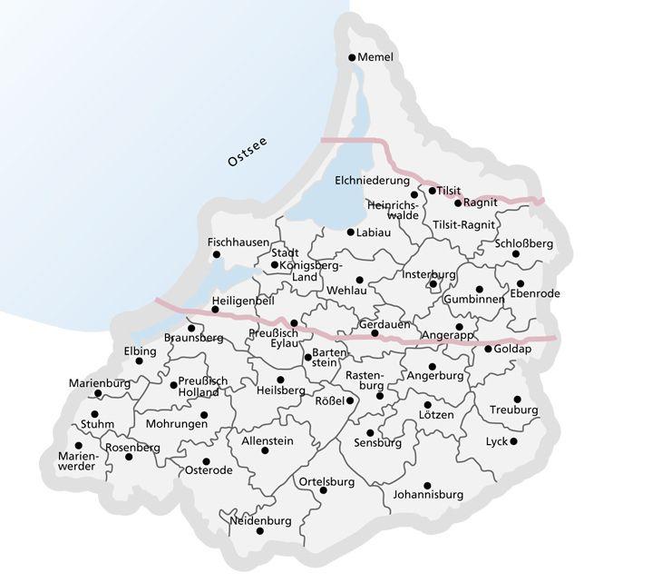 Schlesien Karte Heute.Ostpreußen Karte Landkarten Früher Und Heute Deutschland Maps Of