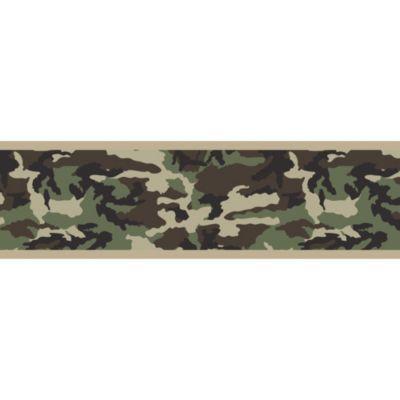 Buy Sweet Jojo Designs Camo Wallpaper Border in Green from