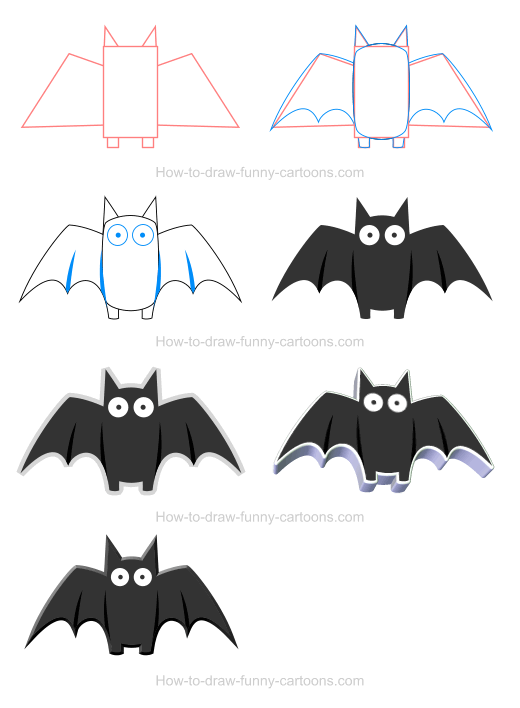 How To Draw A Bat Icon Cartoon Drawings Easy Drawings Animal
