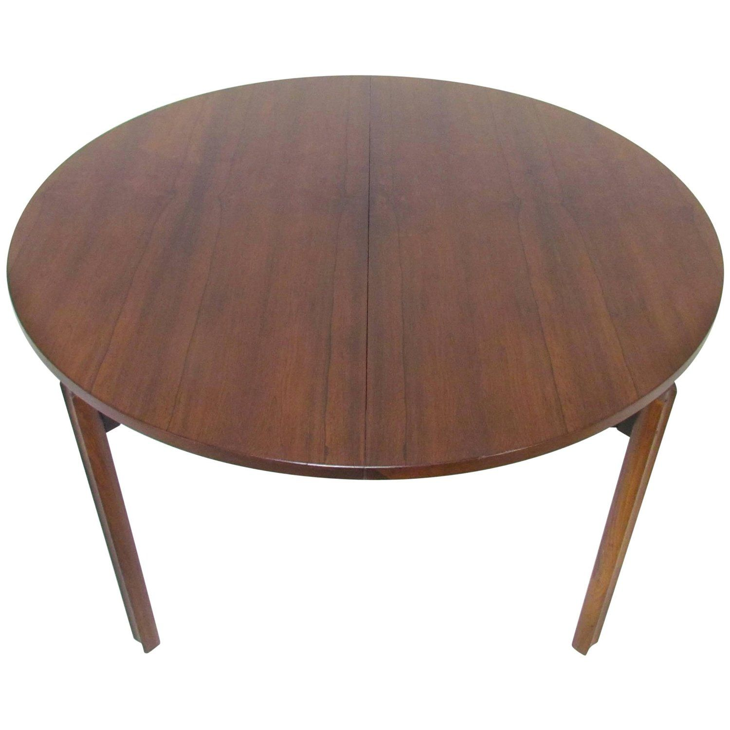 Stildomus Round Rosewood Dining Table With Butterfly Leaf Italy