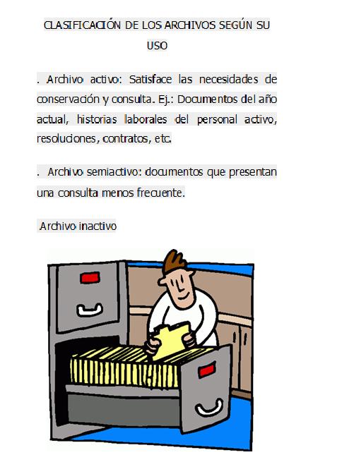 Clasificación De Los Archivos Por La Frecuencia De Uso De Los Documentos Archivadores Empresas Historia