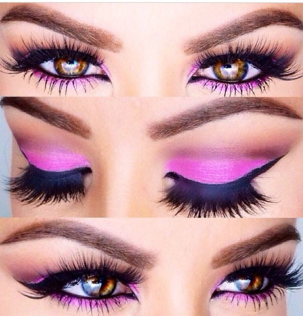 Pink eye makeup from Amrezy