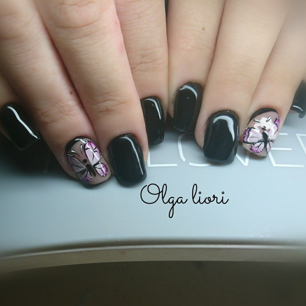 Black nails butterfly