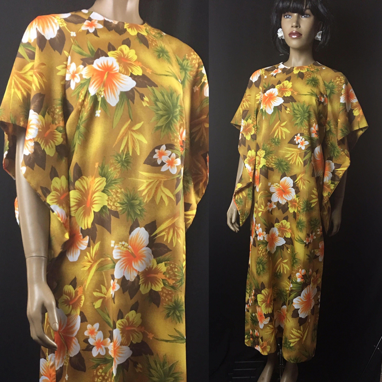Vintage hawaiian muumuu womenus medium large s maxi mumu