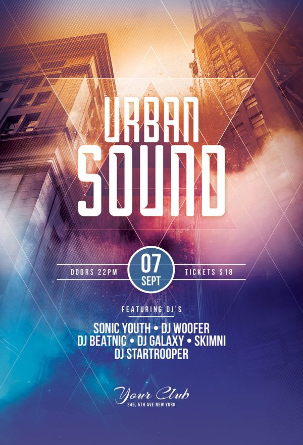 Urban Sound Flyer Template By StyleWish (Download PSD File)