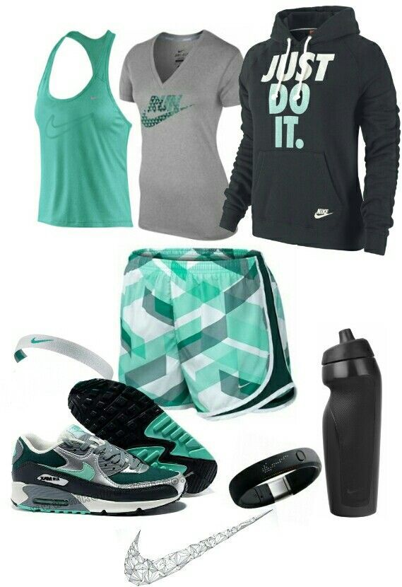 Womens fashion green nike gym outfit find more women fashion ideas on…