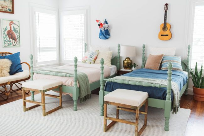 Gender Neutral Shared Kids\' Bedroom | Modern kids bedroom ...