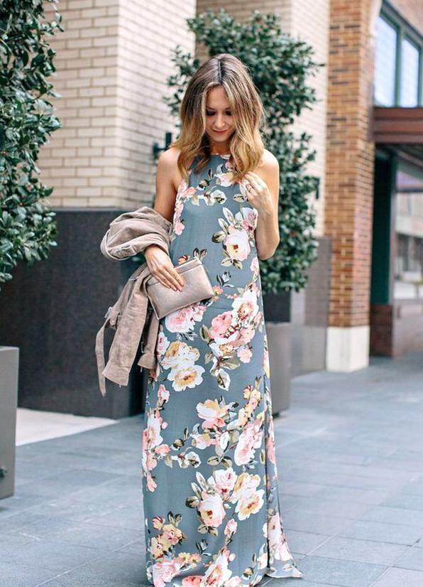Hochzeitsgast Outfit Kleid mit Blumen in 2020 | Outfits ...