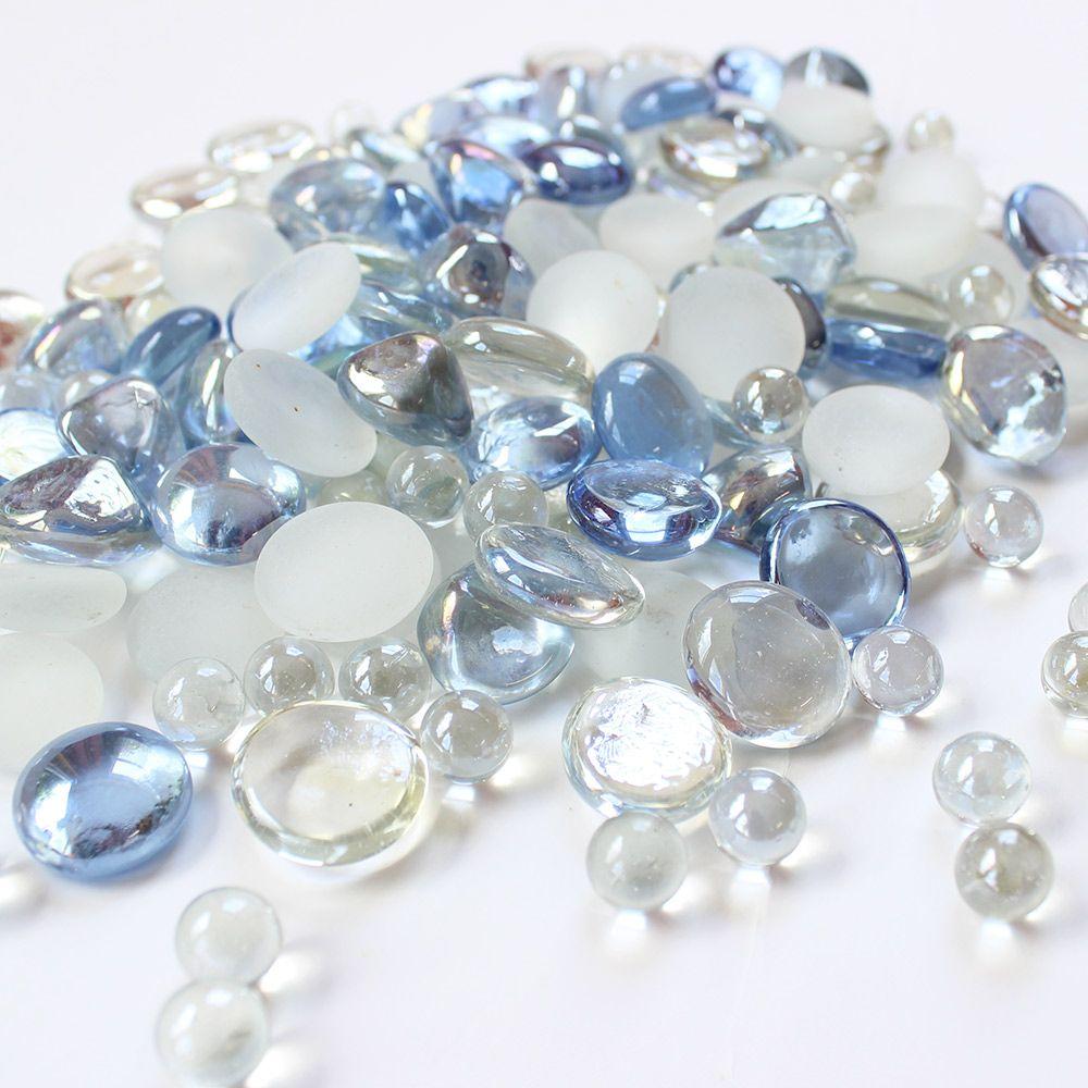 Assorted glass gems vase filler in sky blue with luster look26 lb assorted glass gems vase filler in sky blue with luster look26 lb bag reviewsmspy