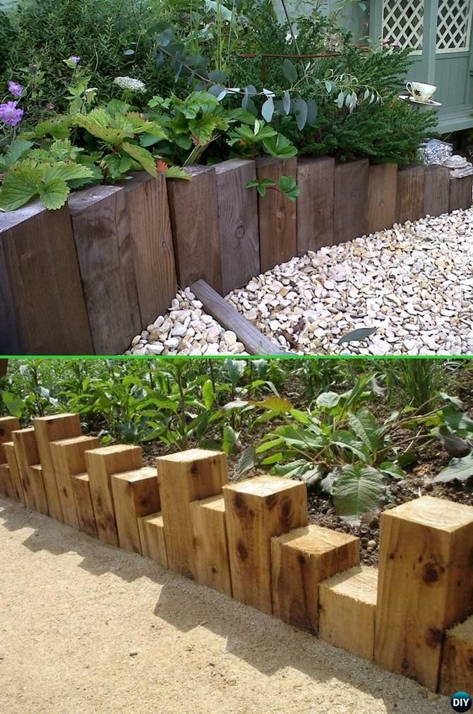 Creative Garden Bed Edging Ideas Projects Instructions Rustic