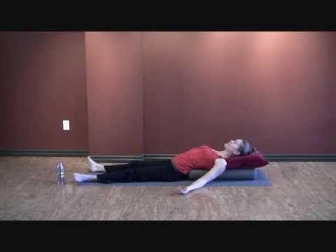 restorative poses with bolstet  restorative yoga yoga