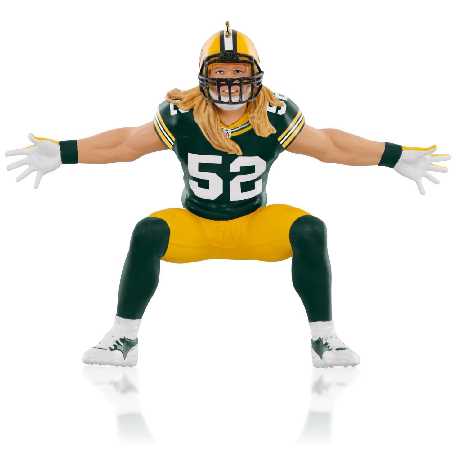 Sports christmas ornaments - Nfl Green Bay Packers Clay Matthews Ornament