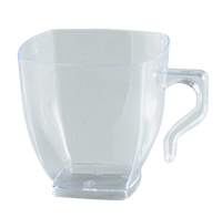 Disposable Clear 2 oz Disposable Plastic Coffee Mugs - Posh Party Supplies