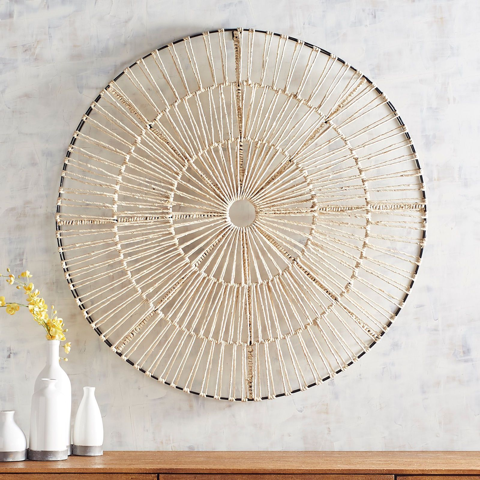 Natural Woven Round Wall Decor Pier 1 Imports Wall Sculpture Art Round Wall Art 3d Wall Art