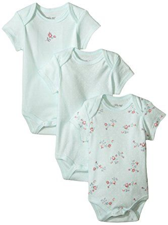 30e106bc41dd Amazon.com  Little Me Baby-Girls Newborn Rose 3 Pack Bodysuit