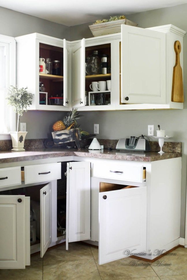 How I Painted My Kitchen Cabinets Without Removing The Doors Inspiration How To Paint Kitchen Cabinets White Inspiration