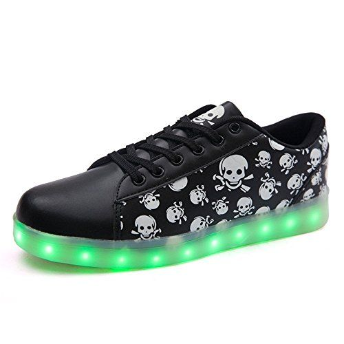 pit4tk LED Light Up Shoes USB Flashing Sneakers with Wing Dance Shoe for Boys Girls Christmas