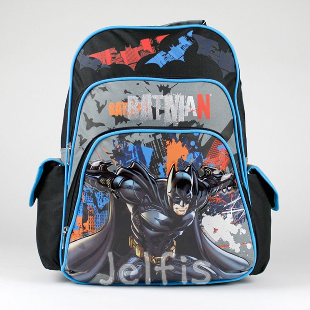 fb77100a9cf7 Kids Backpacks For School · Teaching Supplies · Jelfis.com - 16  Large Dc  Comics Batman Backpack - Orange Bats Bruce Boys