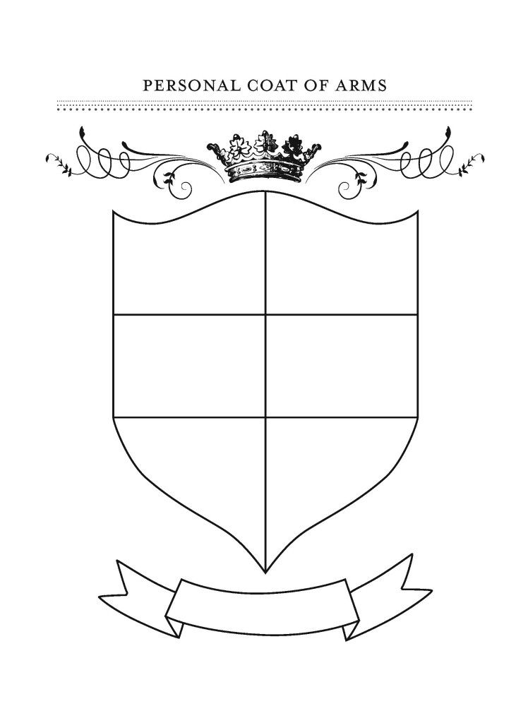 Personal Coat Of Arms Template Coat Of Arms Gratitude Crafts