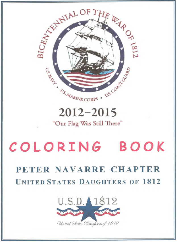 FREE War of 1812 coloring book, downloadable. The illustrations are ...