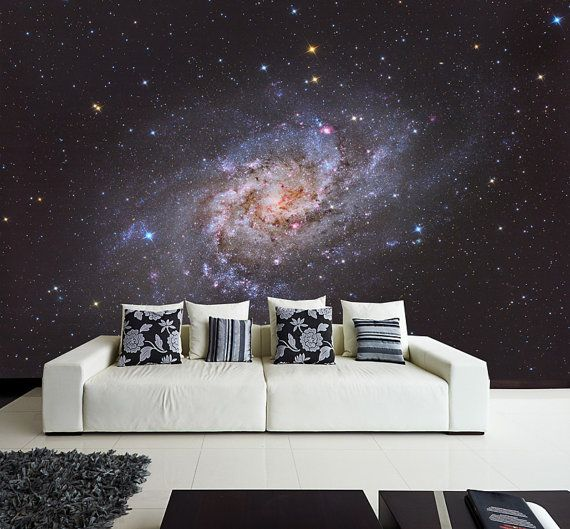 paroi murale belle spirale galaxie papier peint. Black Bedroom Furniture Sets. Home Design Ideas