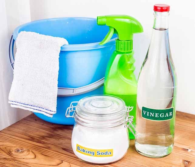 vinegar and baking soda are one of home remedies for a ...