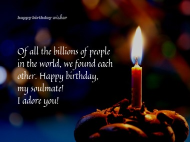Birthday Wishes For Soulmate Happy Birthday Wisher Happy