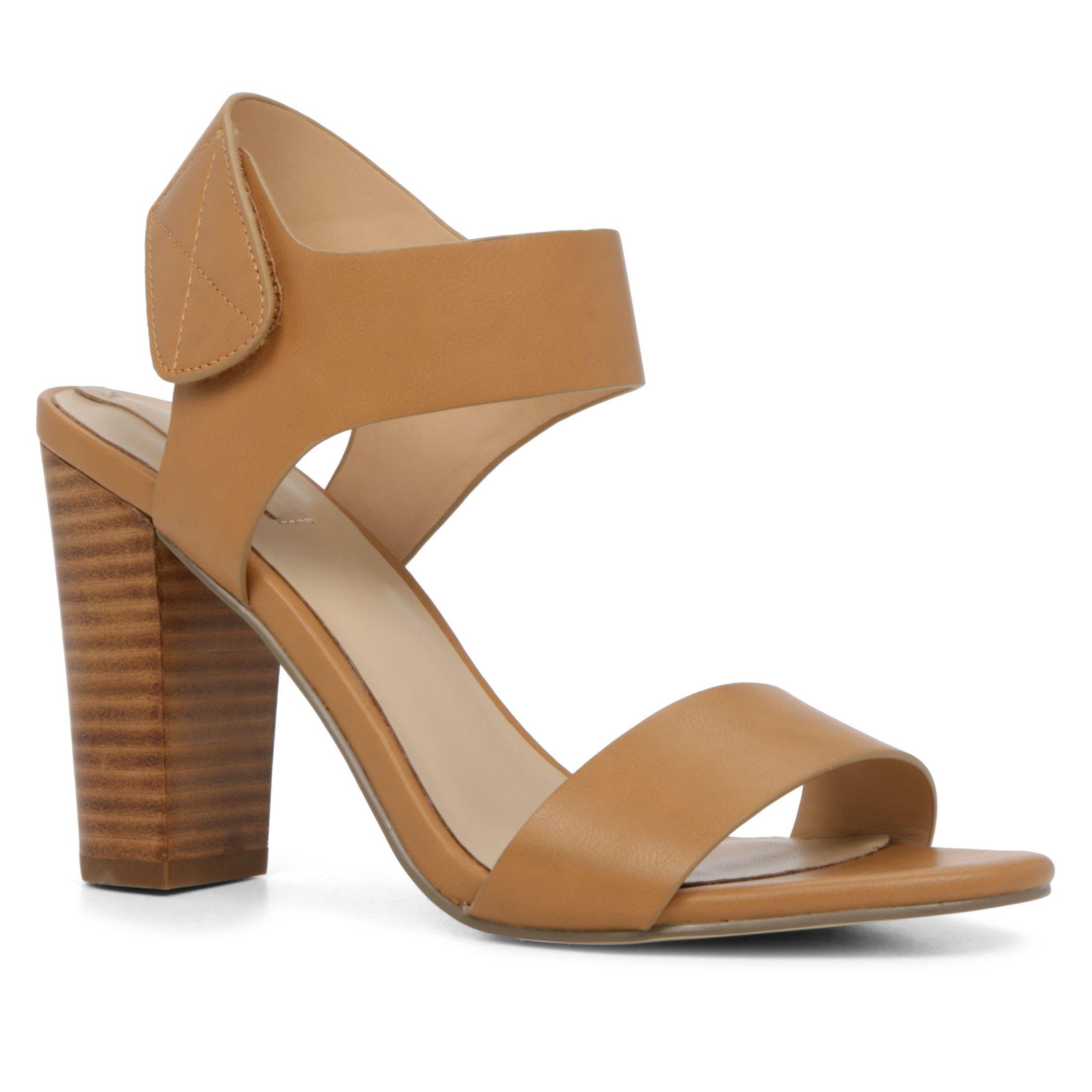 Aldo Istrago-u stacked heel sandal, Cognac