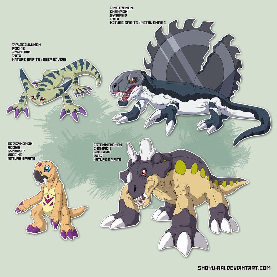 prehistoric digimon | Digi-Fakemon | Digimon, Pokémon, Manga
