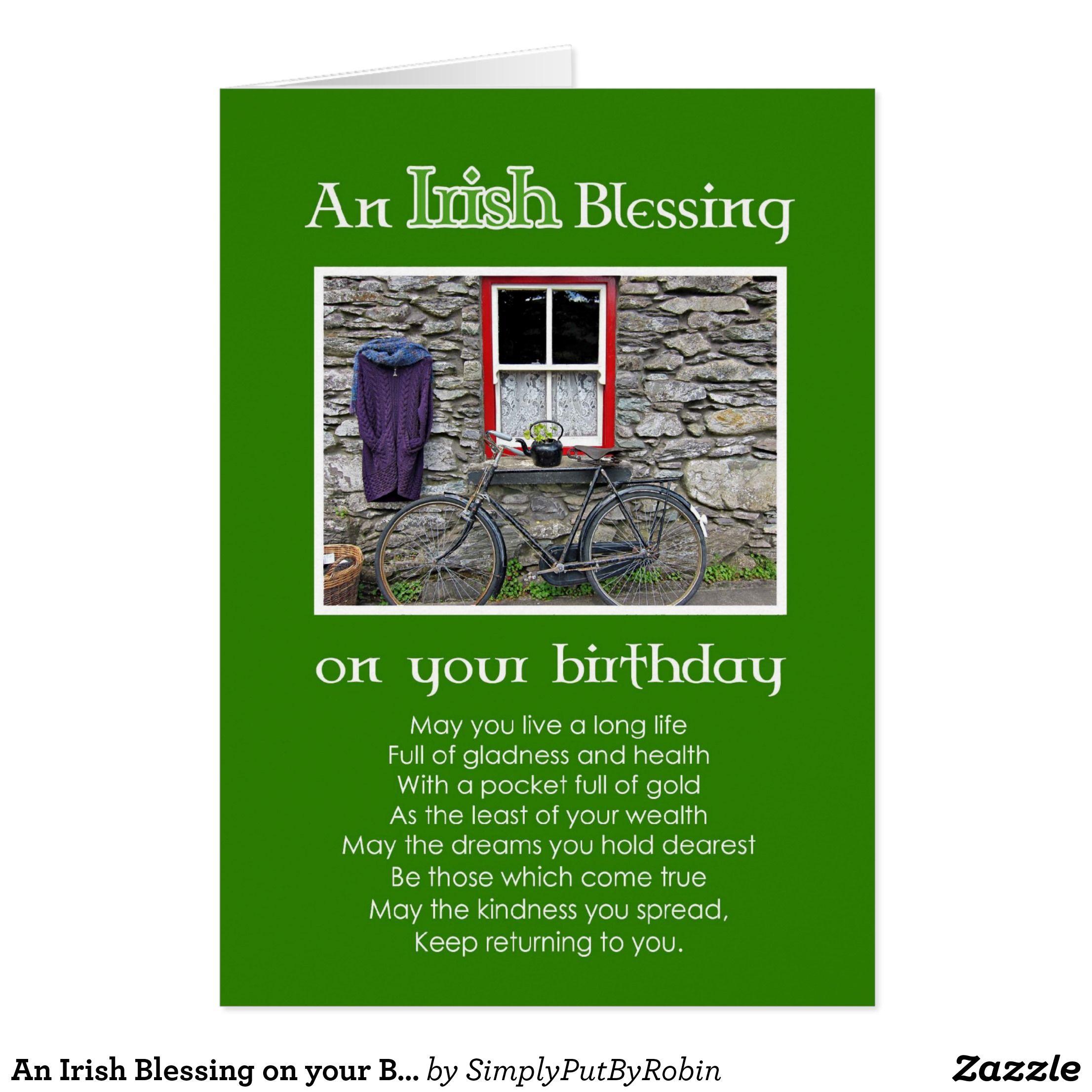 An Irish Blessing On Your Birthday Card Q Birthday Cards