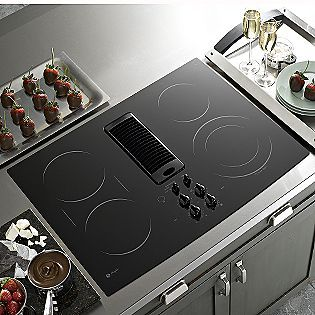 Ge Profile Black 30 Electric Downdraft Cooktop Pp989 Electric