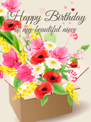 Send Free Gorgeous Flower Happy Birthday Card For Niece To Loved Ones On Greeting Cards By Davia Its 100 And You Also Can Use Your Own