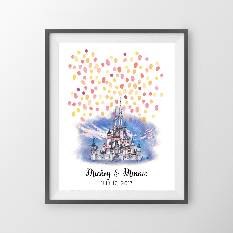 Wedding Pictures With Guest: Disney Wedding Guest Book: Disneyland Wedding Sign In