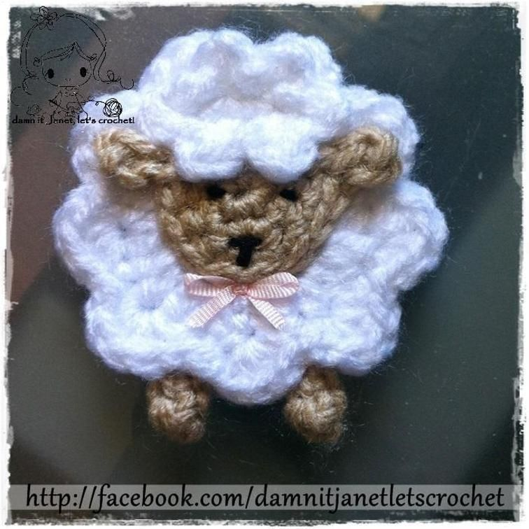 Sheep Applique Appliques Of All Kinds Pinterest Free Crochet