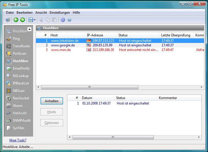 Free IP Tools Informatik, Free und Mail adresse