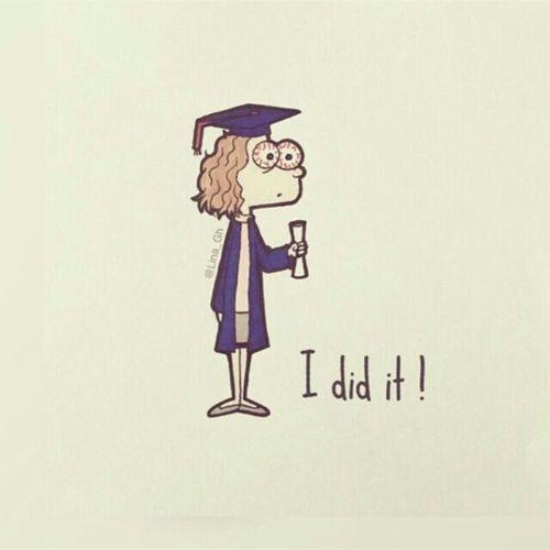 Graduation Congratulations And I Did It Image Graduation Drawing Graduation Wallpaper Graduation Art