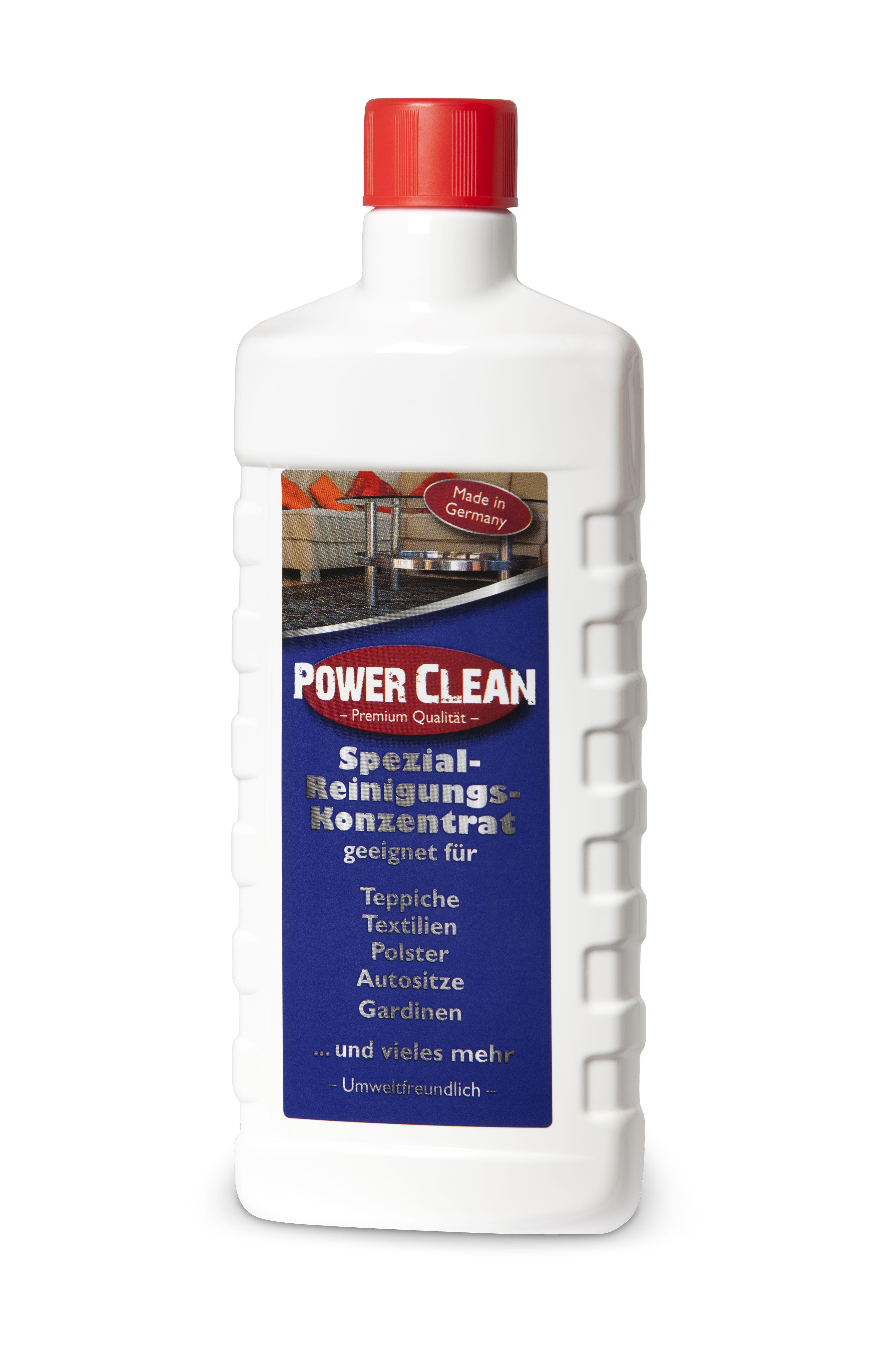 spezial reinigungs konzentrat power clean f r die reinigung von teppichen polstern autositzen. Black Bedroom Furniture Sets. Home Design Ideas